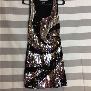 Forever 21 Black/Sliver Sequin Cocktail Dress